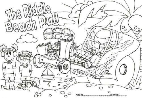 Kleurplaten Tractor Pulling.Kleurwedstrijd Aan Het Strand The Riddle